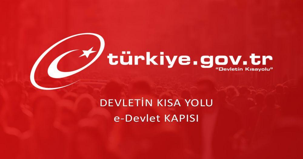 turkiye.gov.tr e-devlet banner
